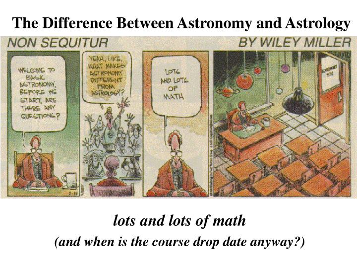 The difference between astronomy and astrology3