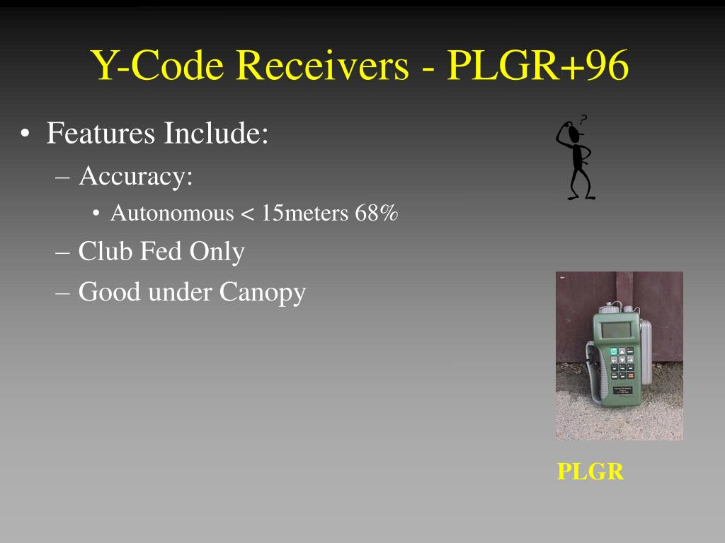Y-Code Receivers - PLGR+96