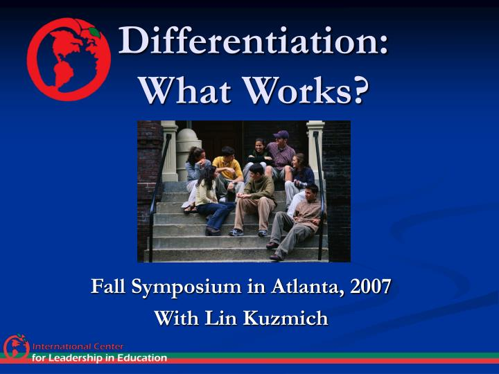 Differentiation what works