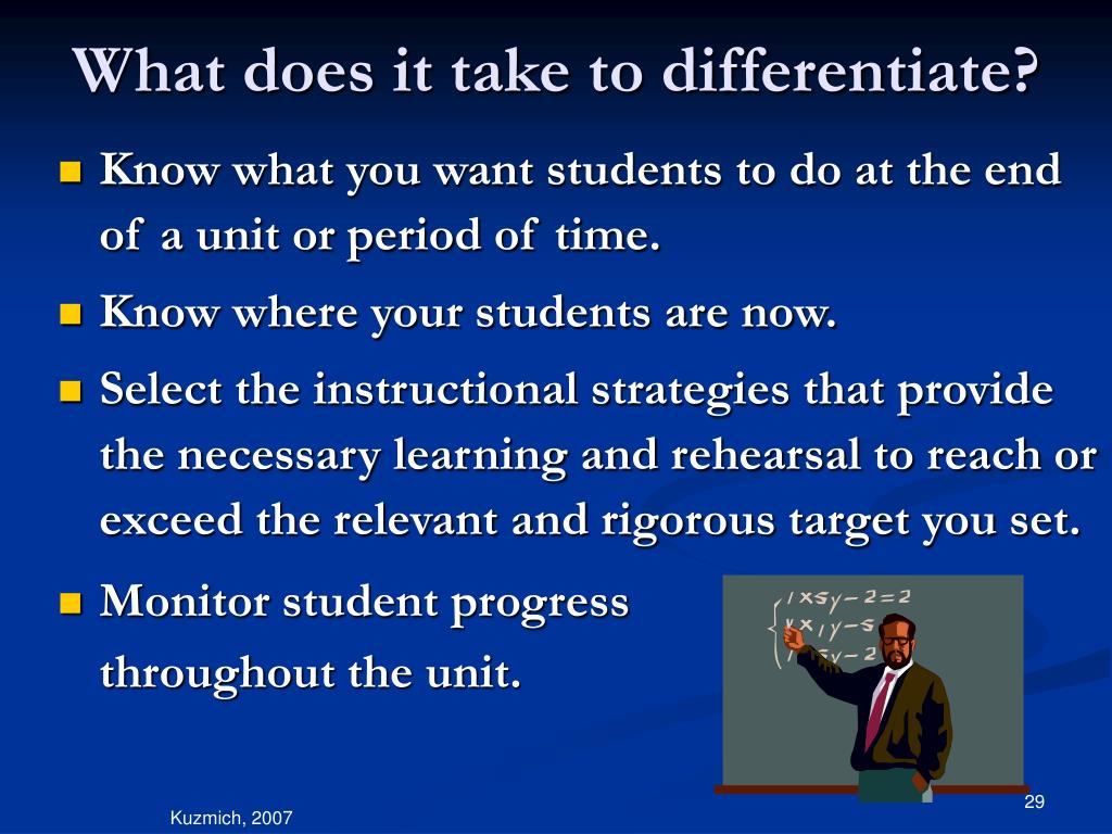 What does it take to differentiate?