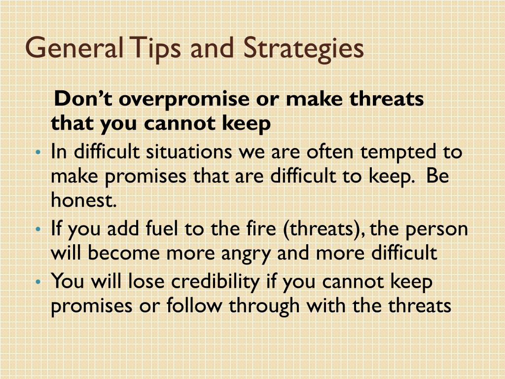 General Tips and Strategies