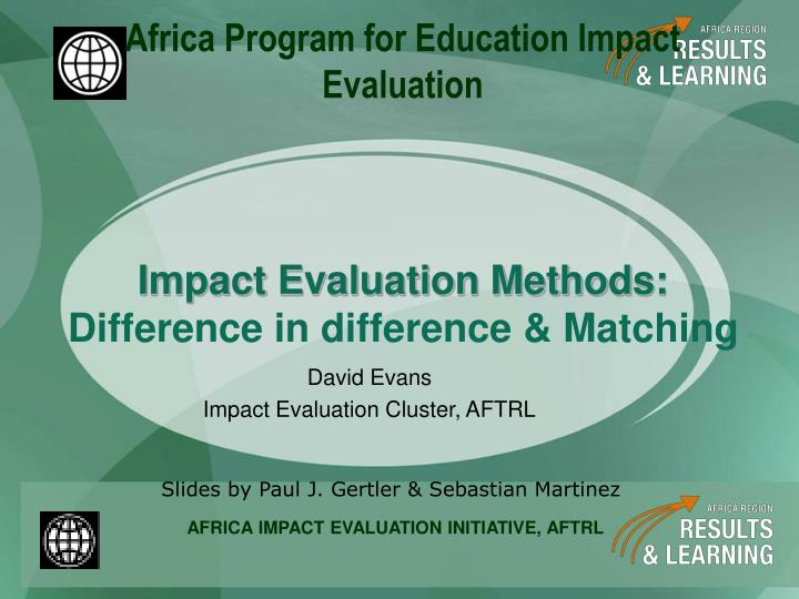 David evans impact evaluation cluster aftrl