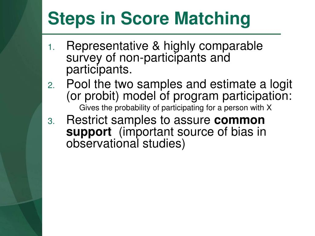 Steps in Score Matching