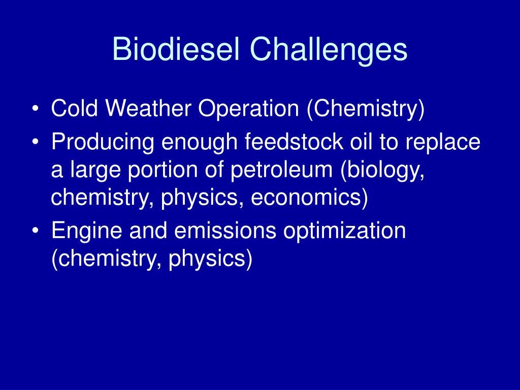 Biodiesel Challenges