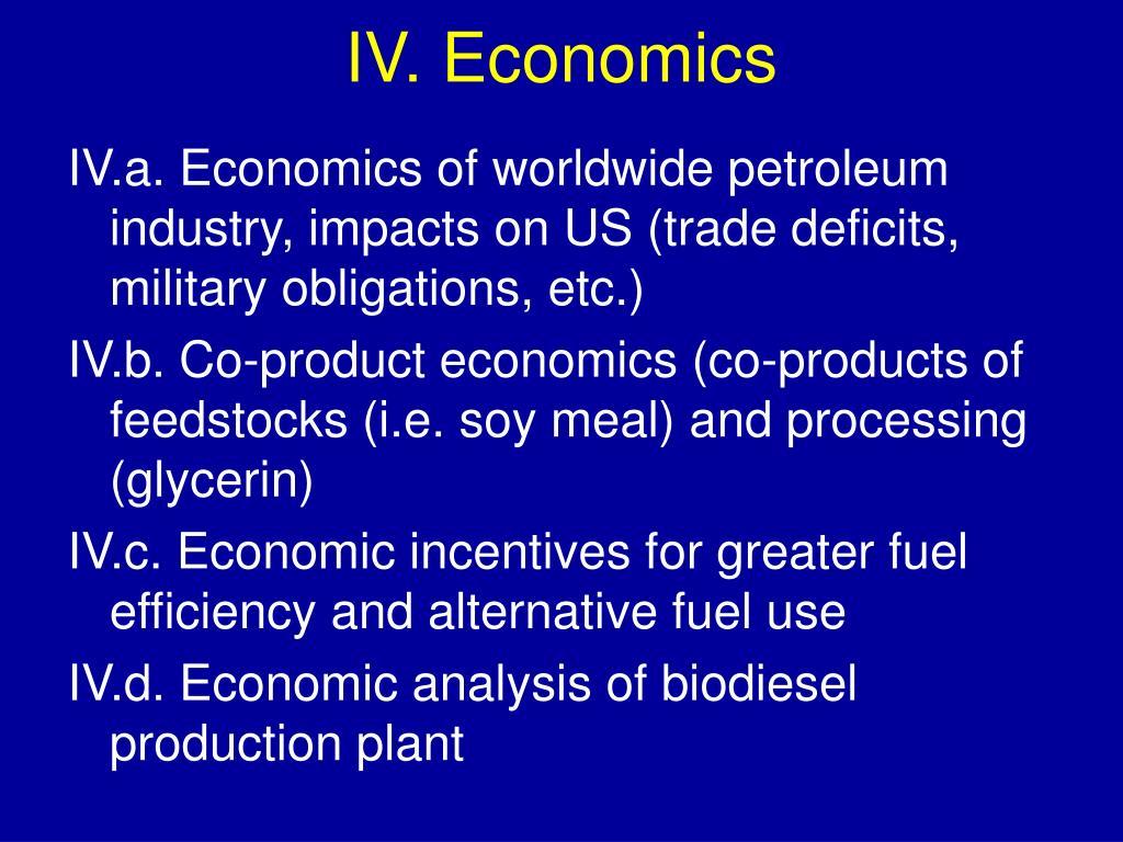 IV. Economics