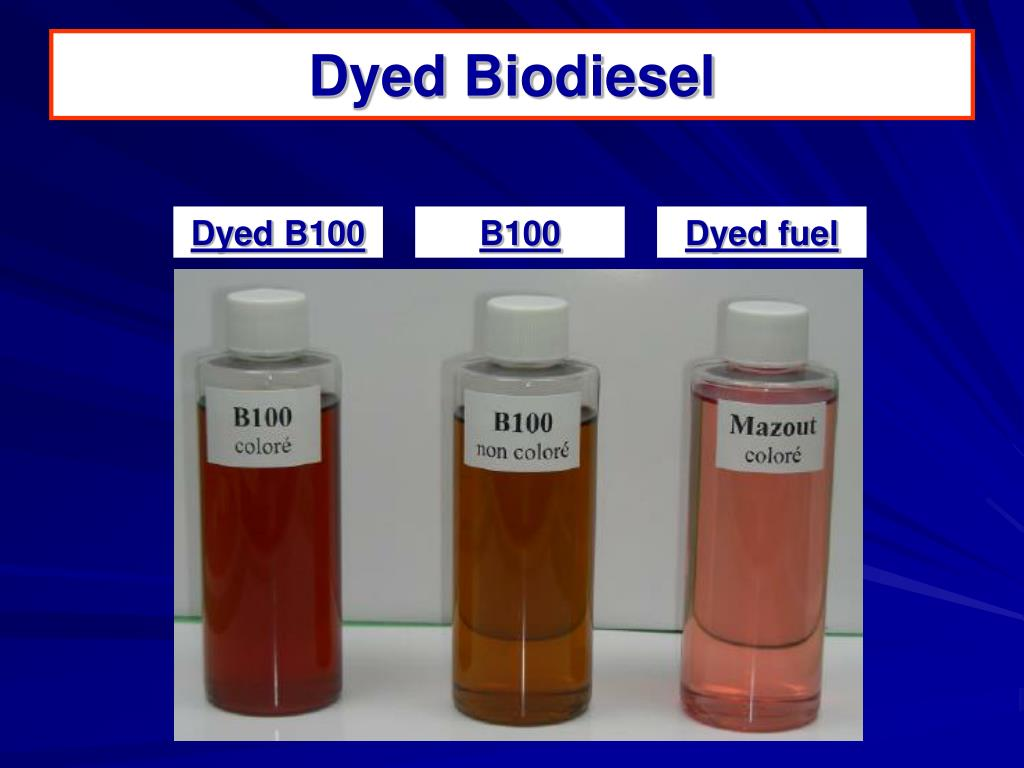 Dyed Biodiesel