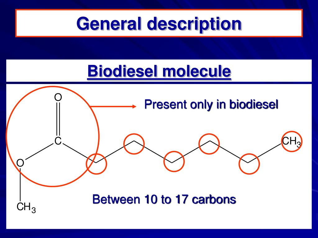Present only in biodiesel