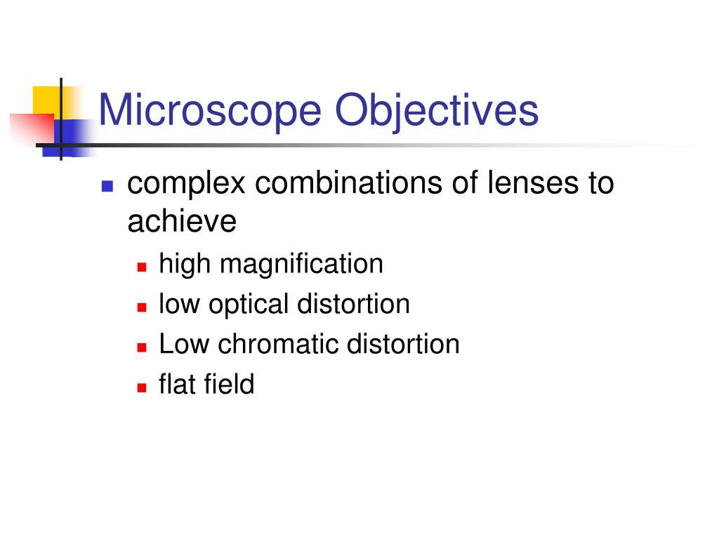 Microscope Objectives