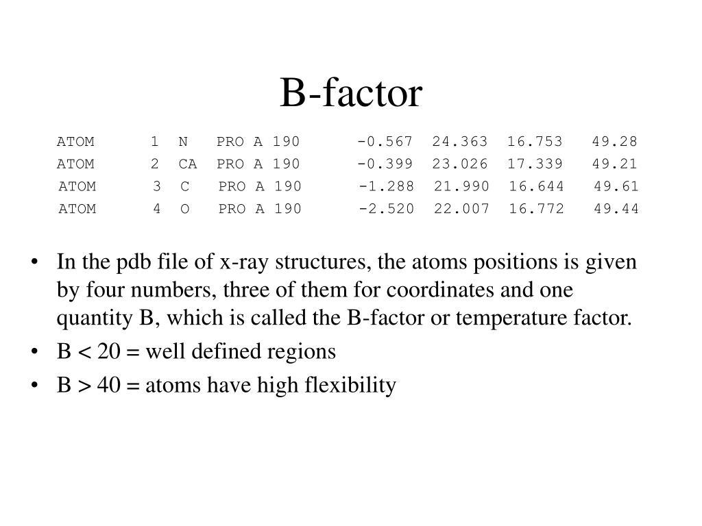 B-factor