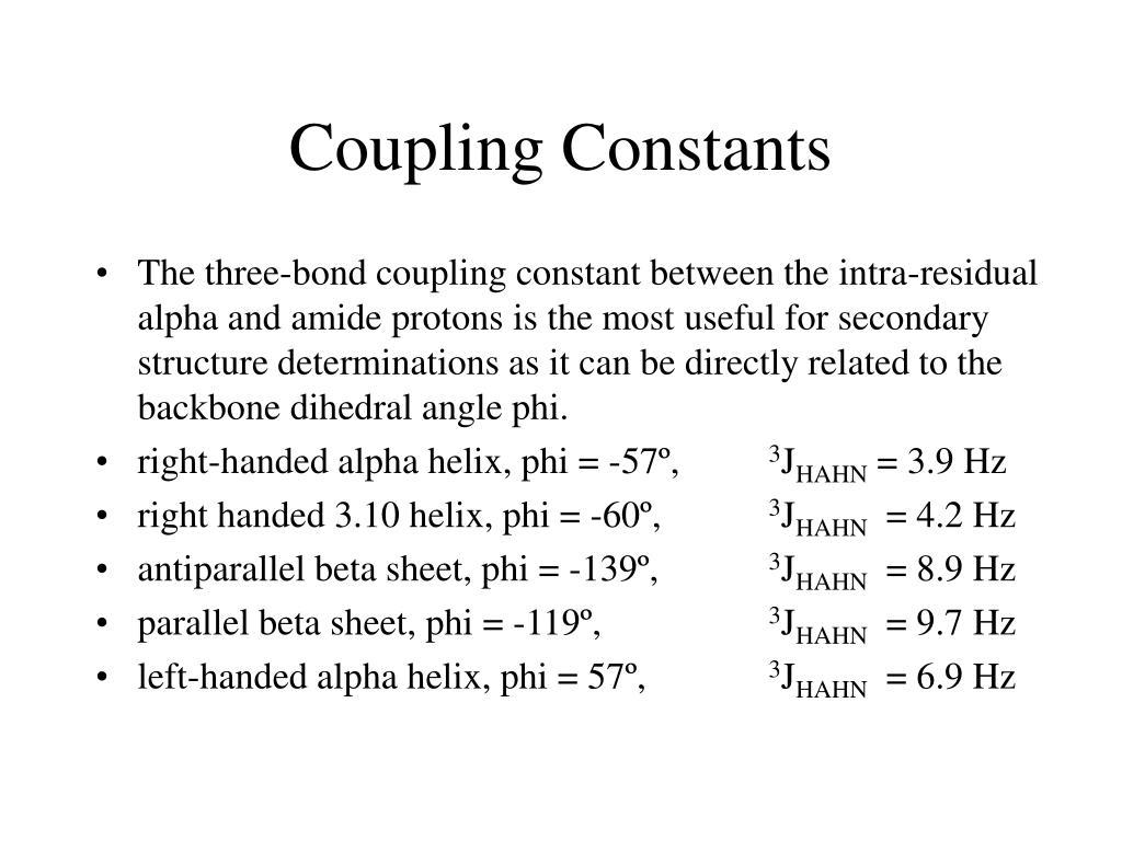 Coupling Constants