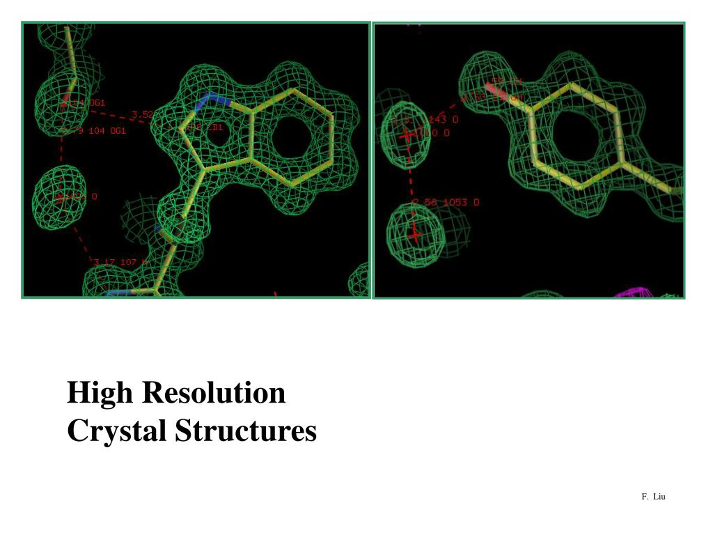 High Resolution Crystal Structures