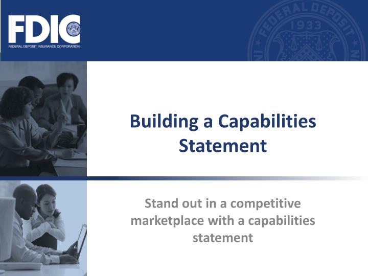 building a capabilities statement n.