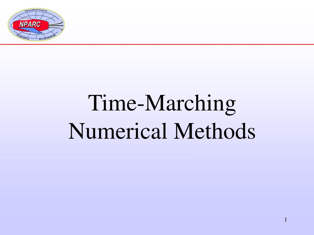 PPT - Time-Marching Numerical Methods PowerPoint Presentation - ID