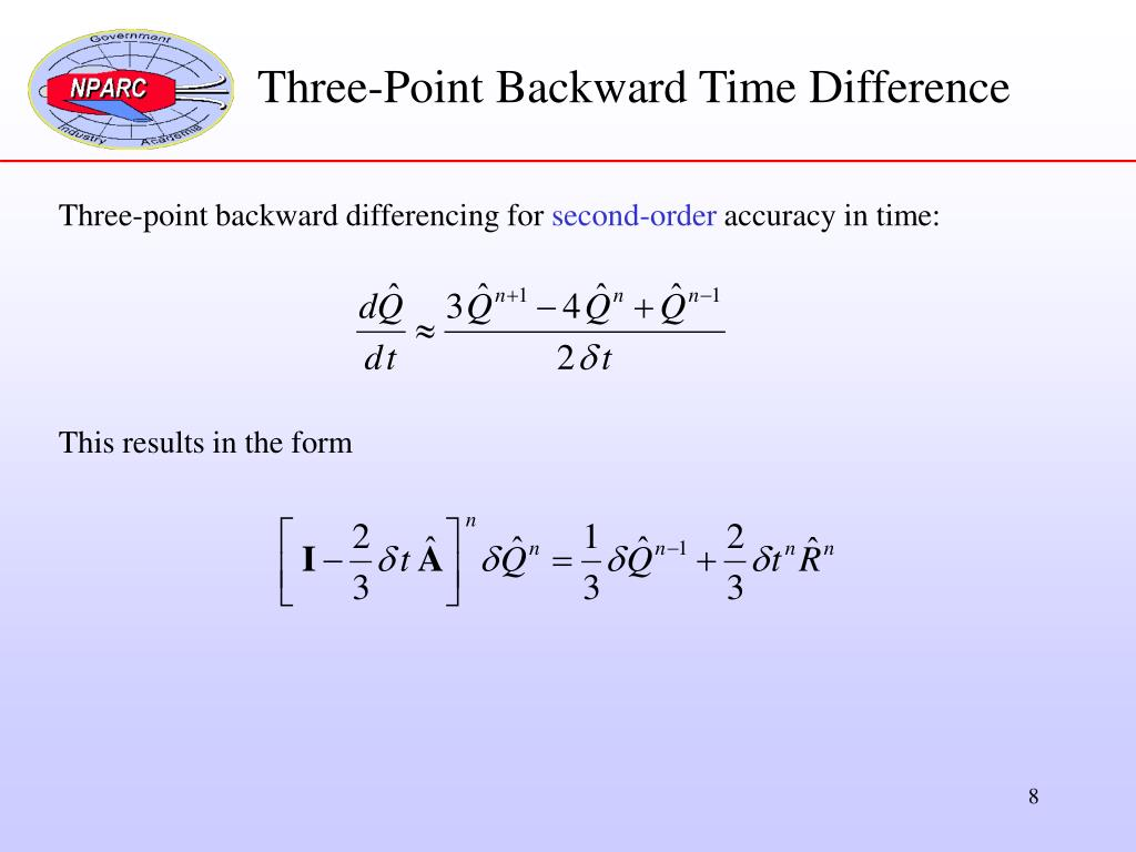 Three-Point Backward Time Difference