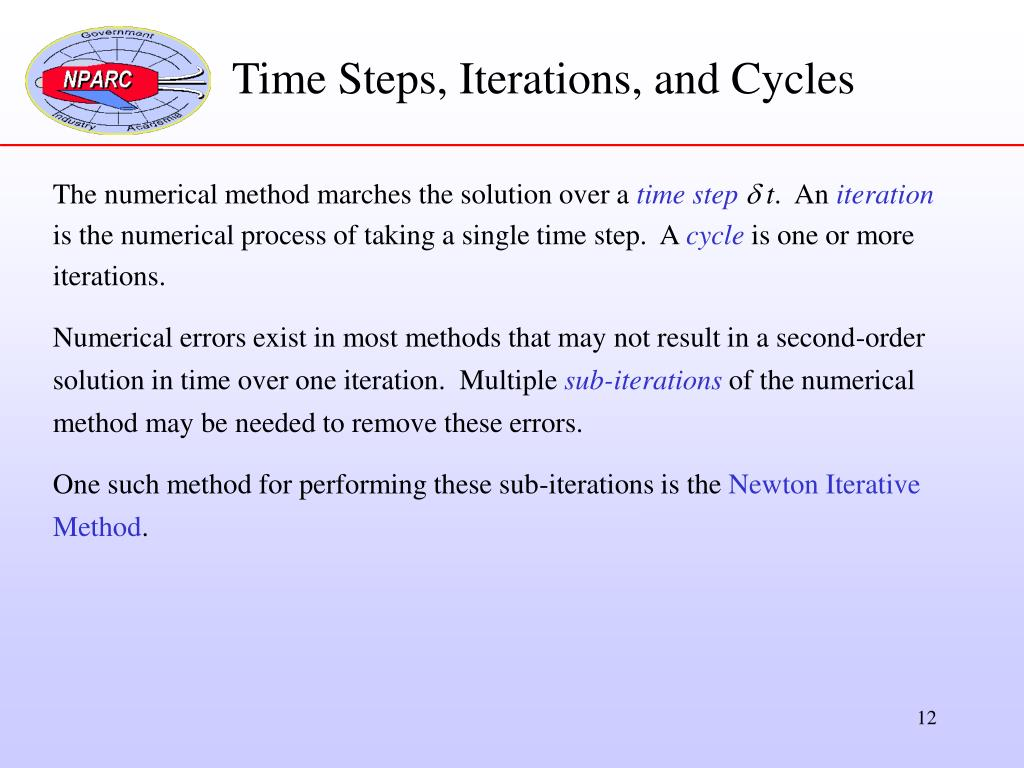 Time Steps, Iterations, and Cycles