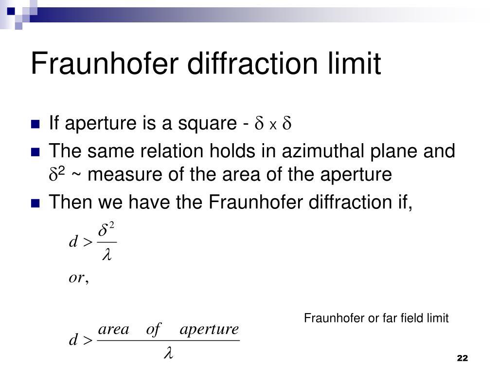 Fraunhofer diffraction limit