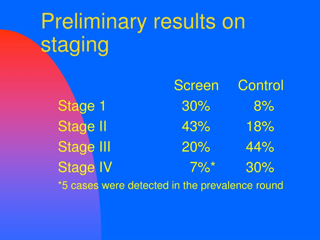 Preliminary results on staging