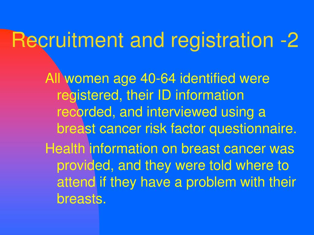 Recruitment and registration -2