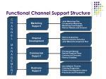 functional channel support structure
