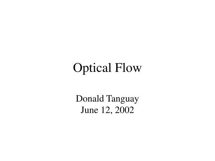 optical flow n.