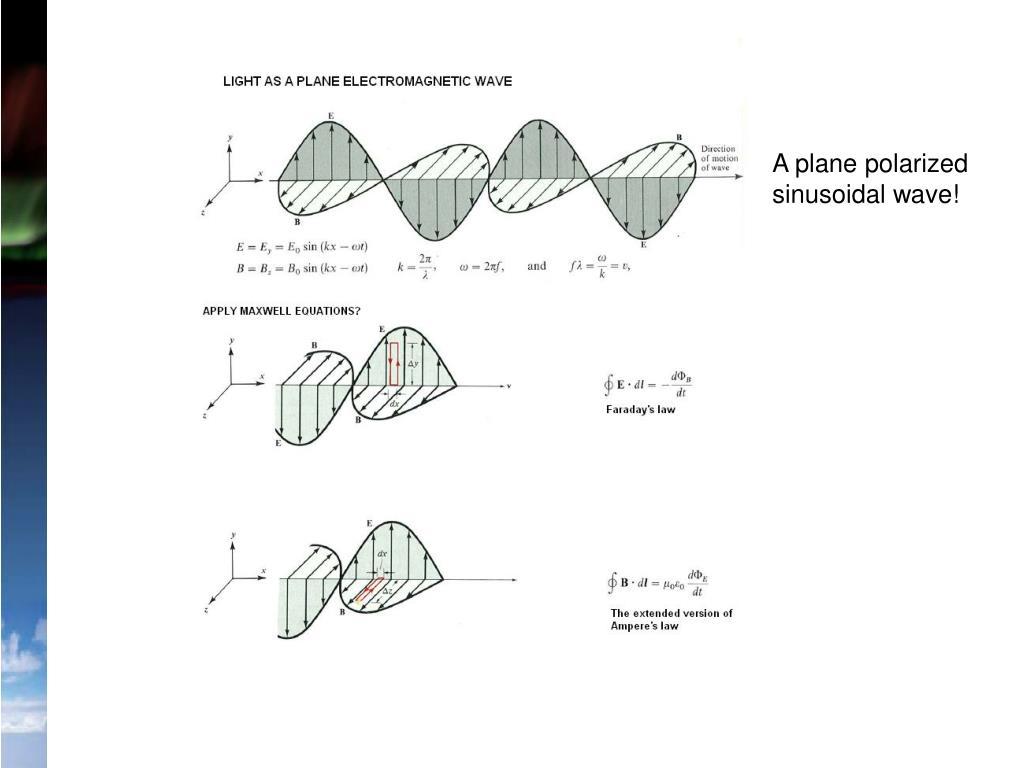 A plane polarized