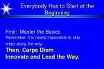 everybody has to start at the beginning