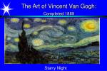 the art of vincent van gogh completed 1889