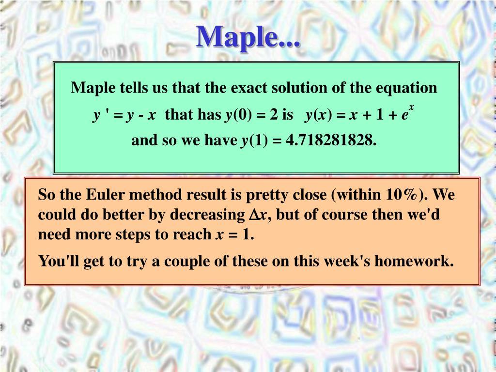 Maple...