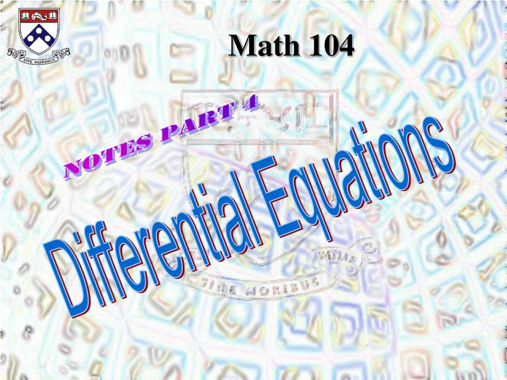 Math 104