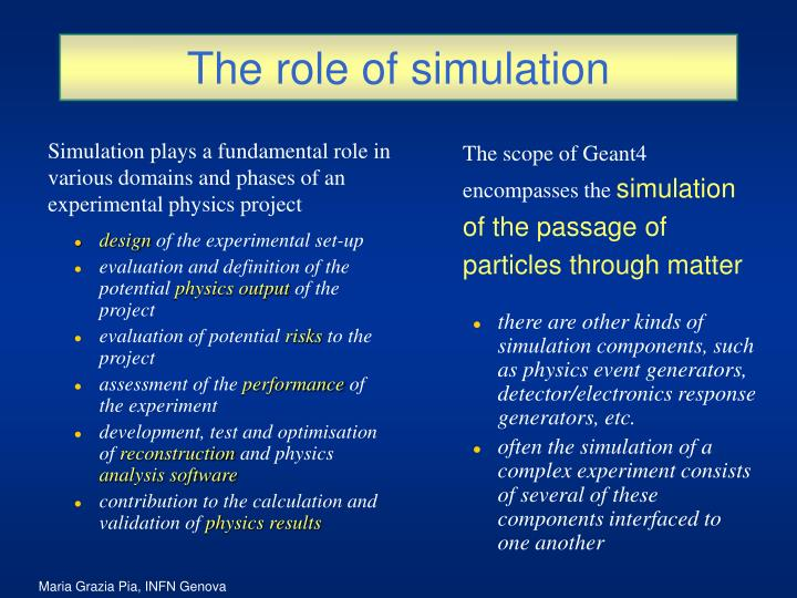 The role of simulation