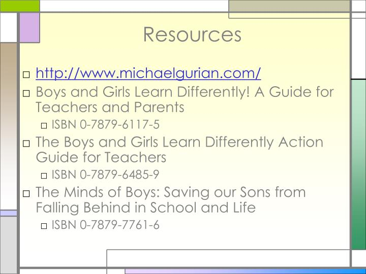 boys and girls learn differently a guide for teachers and parents