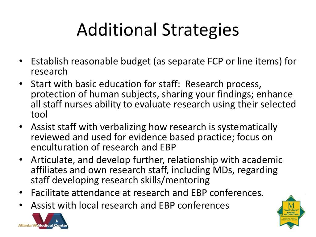 Additional Strategies