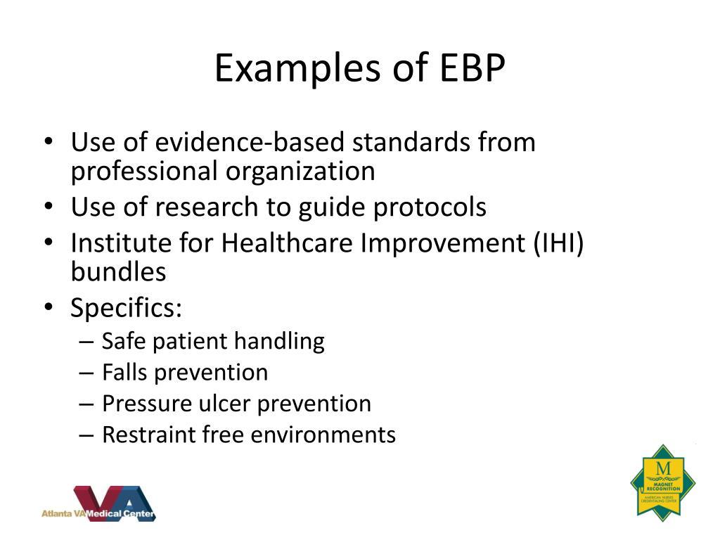 Examples of EBP