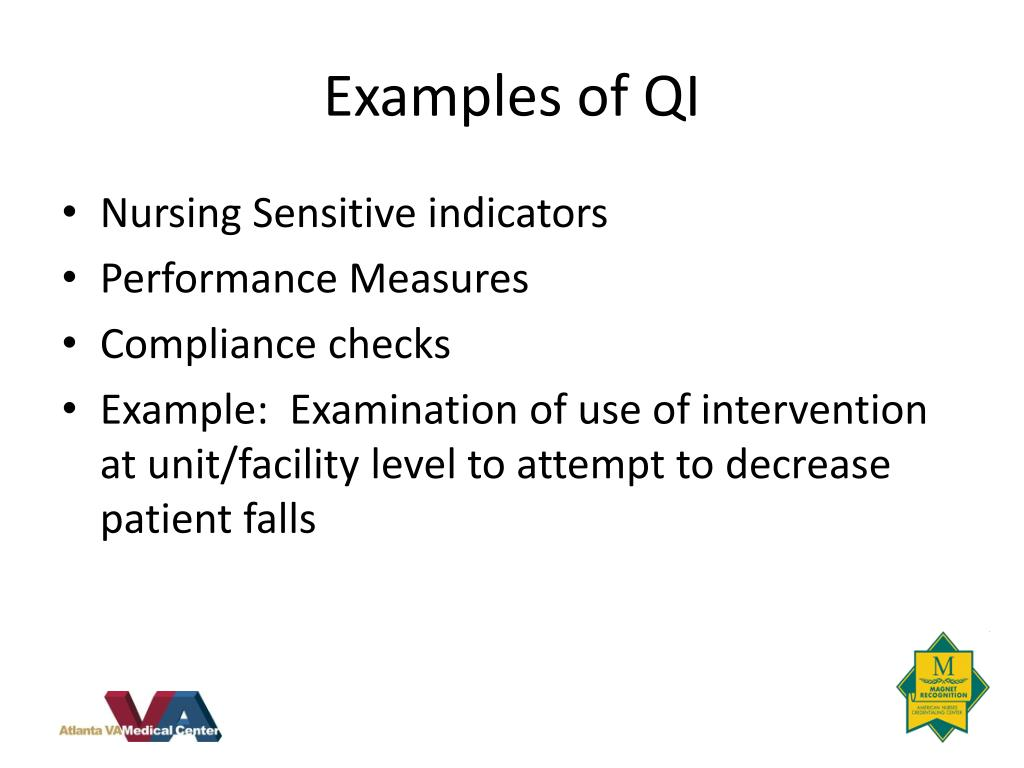 Examples of QI