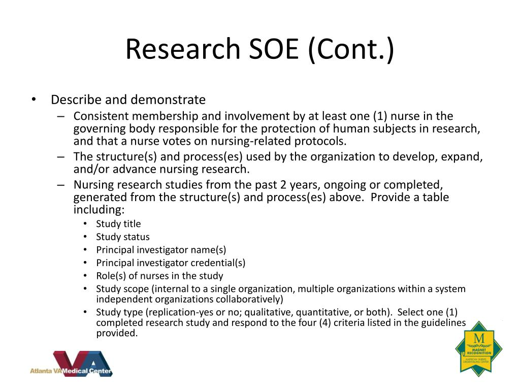 Research SOE (Cont.)