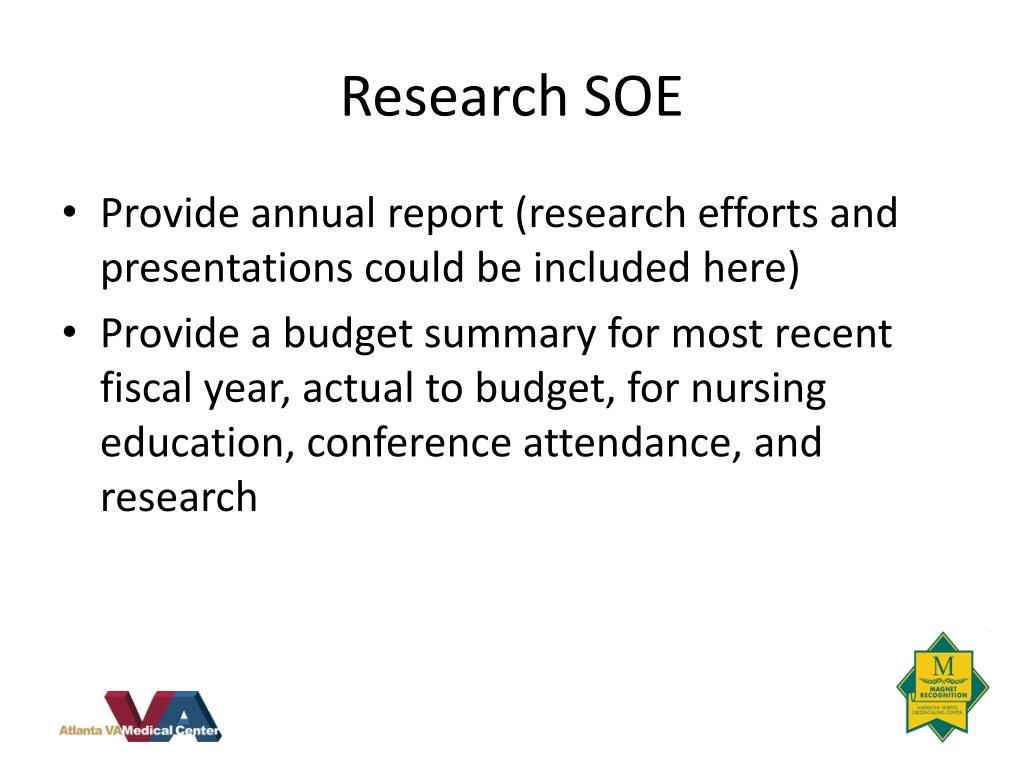 Research SOE