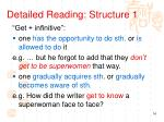 detailed reading structure 1