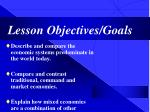 lesson objectives goals