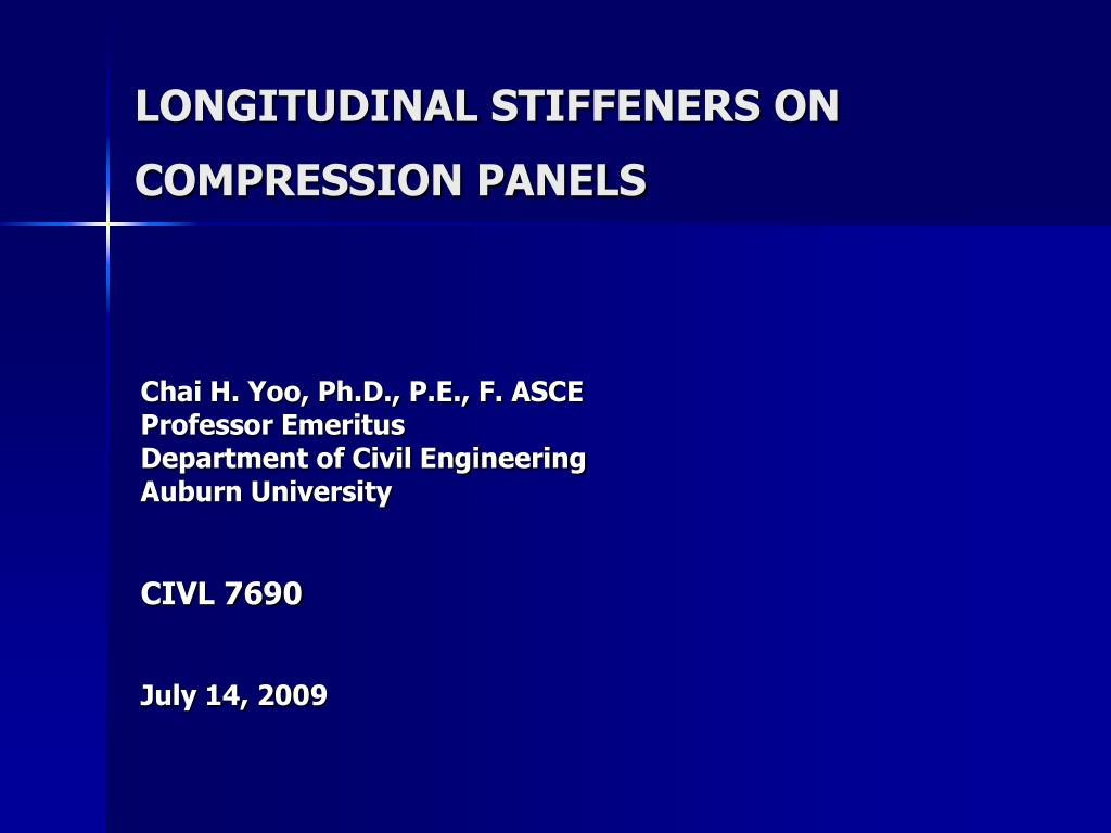 longitudinal stiffeners on compression panels l.