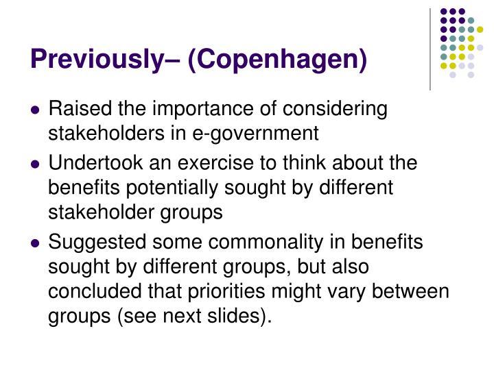 Previously copenhagen