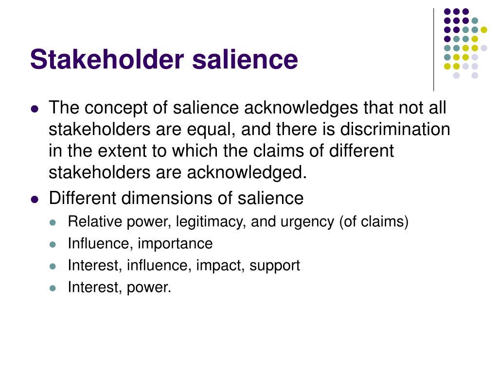 Stakeholder salience