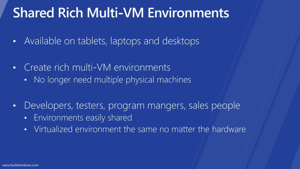 Shared Rich Multi-VM Environments
