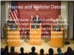 haynes and webster debate
