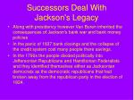successors deal with jackson s legacy