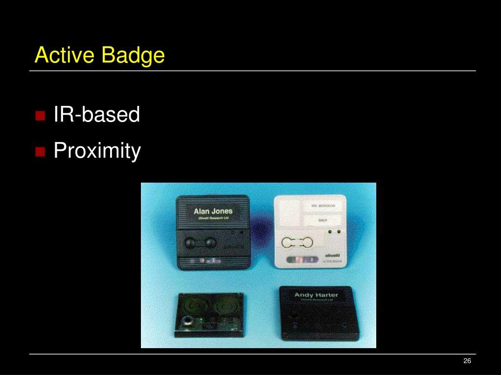 Active Badge