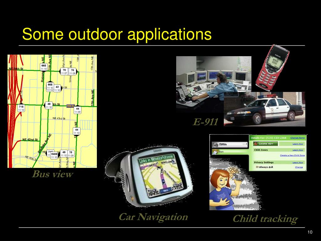 Some outdoor applications