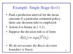 example single stage k 1
