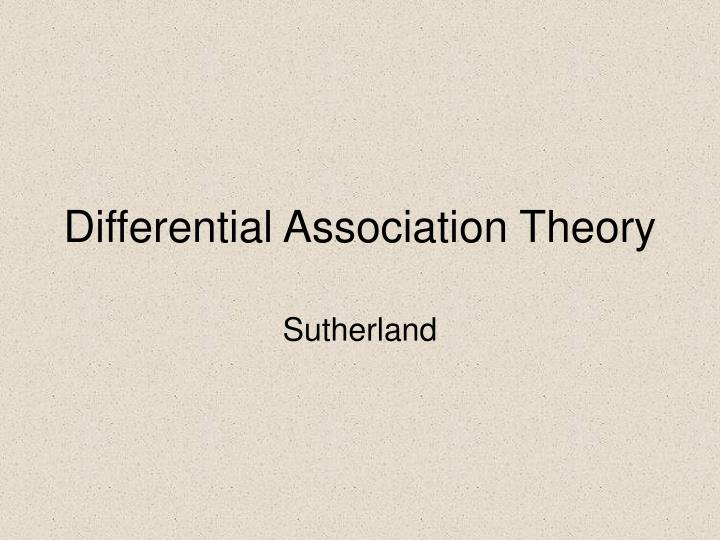 differential association theory n.