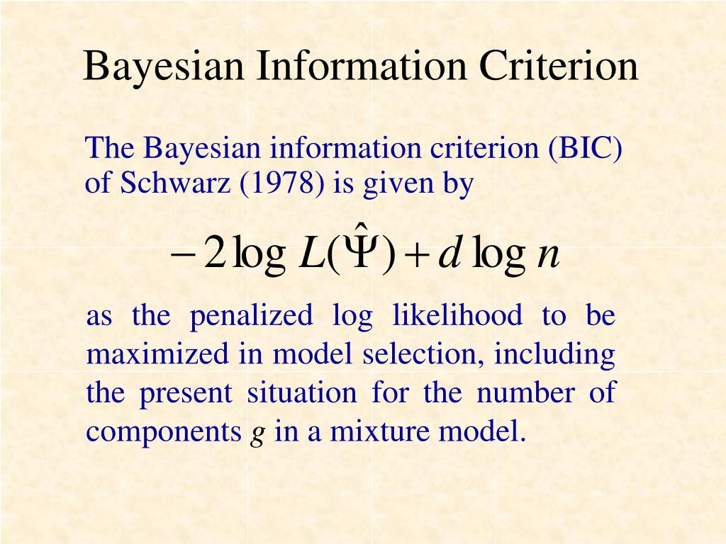 Bayesian Information Criterion