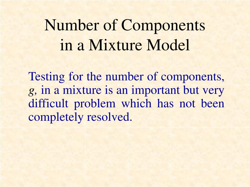 Number of Components
